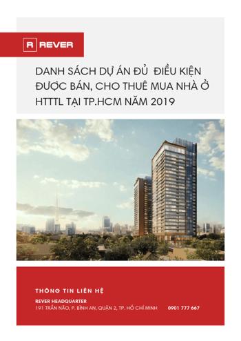 Danh sách các dự án đủ điều kiện bán, cho thuê mua nhà ở HTTTL năm 2019