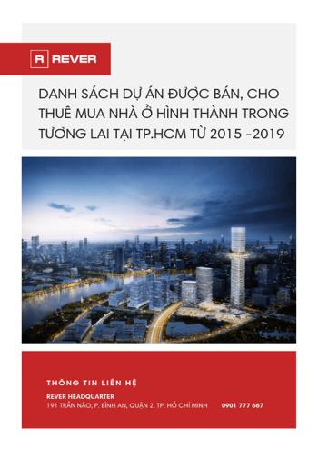 Danh sách các dự án đủ điều kiện bán, cho thuê mua nhà ở hình thành trong tương lai tại TP.HCM từ 2015 - 2019
