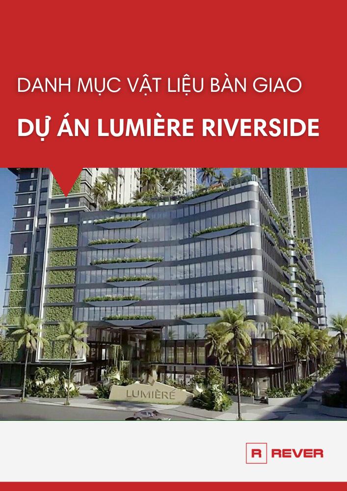 Danh mục vật liệu bàn giao căn hộ Lumiere Riverside