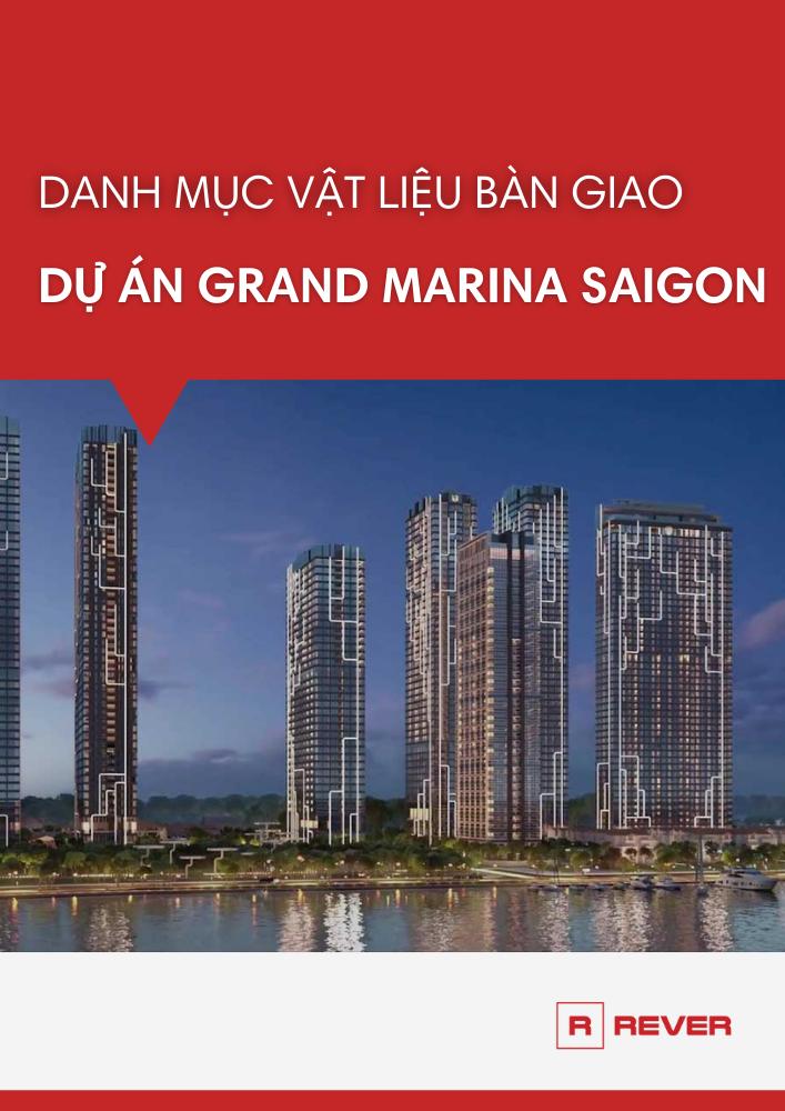 Danh mục vật liệu bàn giao căn hộ Grand Marina Saigon