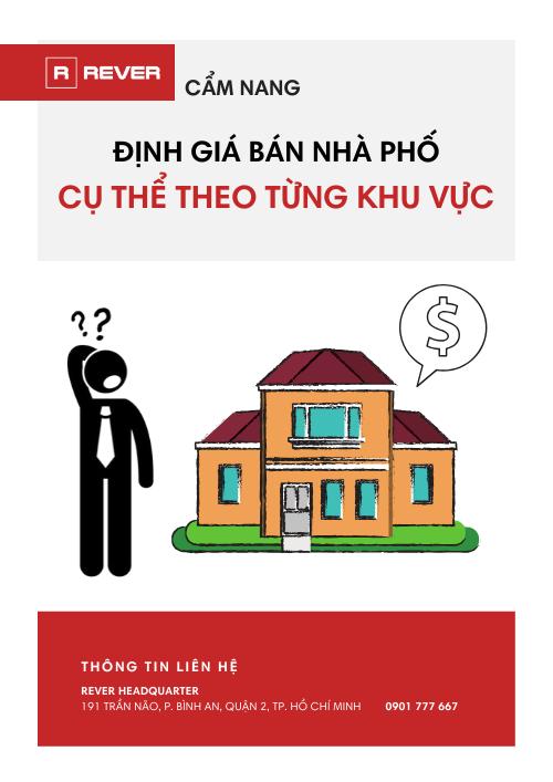 Hướng dẫn Định giá bán nhà phố cụ thể theo từng khu vực