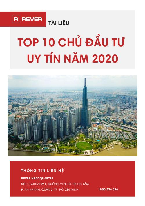 Top 10 chủ đầu tư BĐS uy tín năm 2020