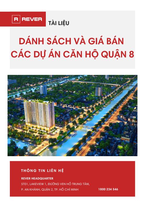 Danh sách và giá bán các dự án căn hộ Quận 8