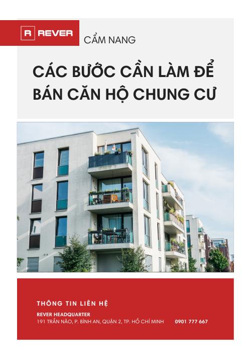 Cẩm nang Hướng dẫn các bước cần làm để bán căn hộ chung cư