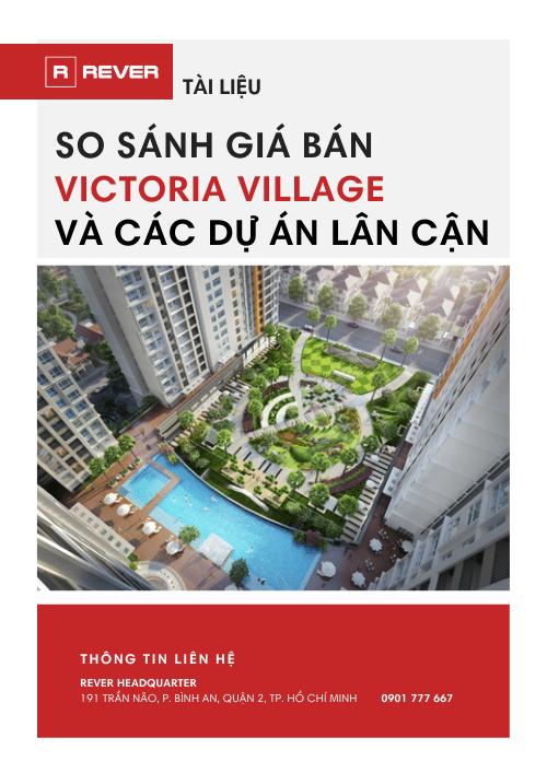 Tài liệu So sánh giá bán dự án Victoria Village và các dự án lân cận