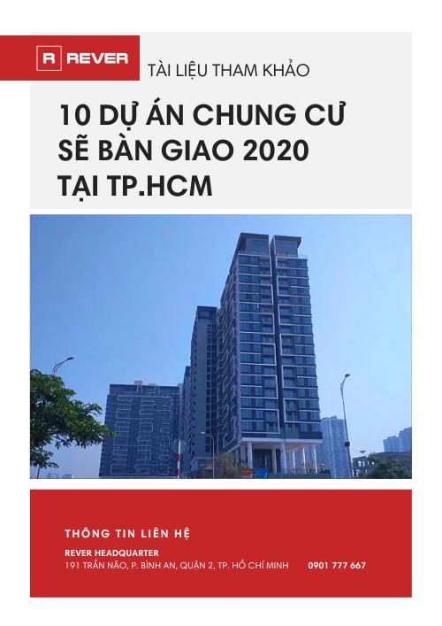 Tài liệu 10 Dự án chung cư sẽ bàn giao 2020 tại TP.HCM