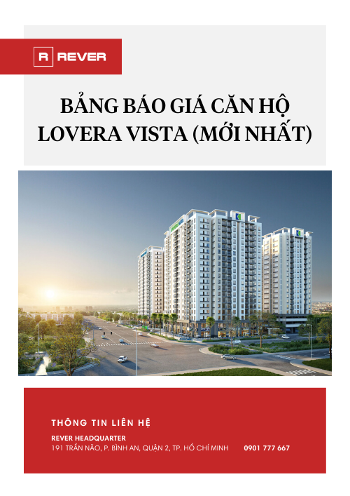 Bảng giá căn hộ dự án Lovera Vista mới nhất