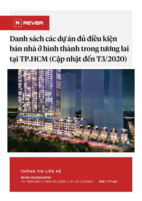Danh sách các dự án tại TP.HCM đủ điều kiện bán nhà (Cập nhật đến Tháng 3/2020)