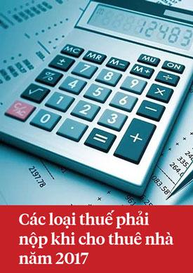 Các loại thuế phải nộp khi cho thuê nhà năm 2017