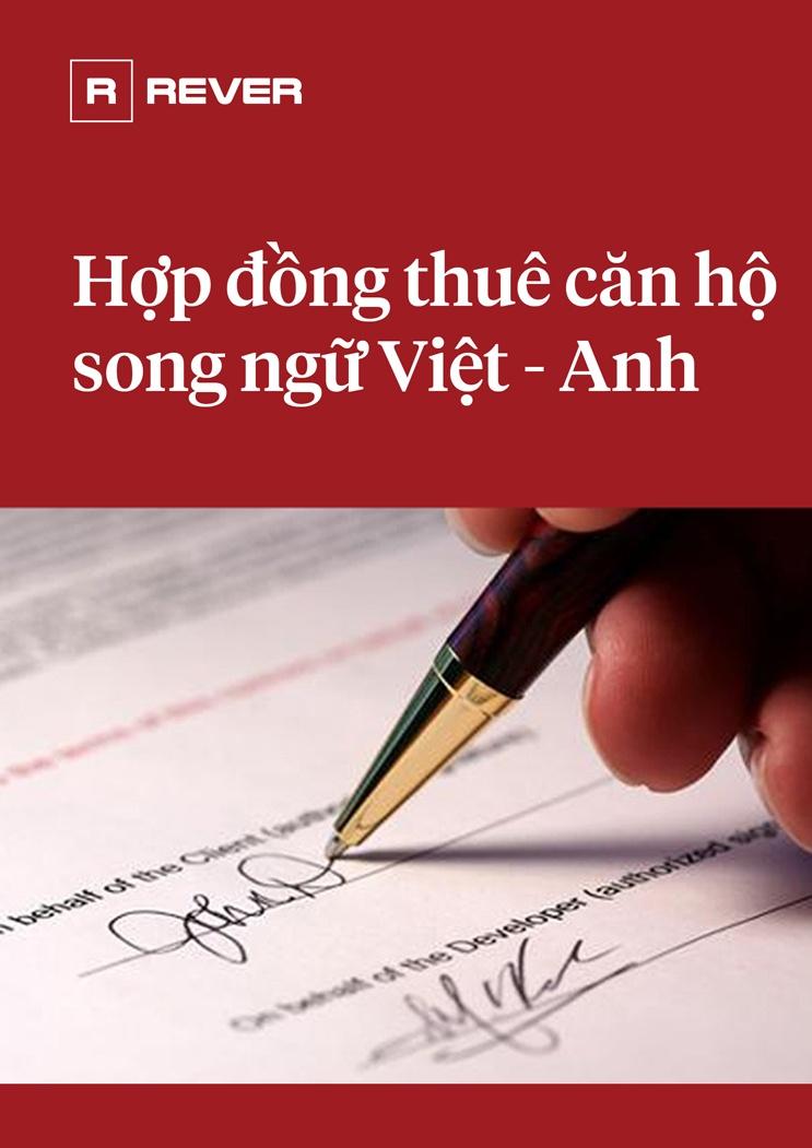 Mẫu Hợp đồng cho thuê căn hộ song ngữ Việt - Anh