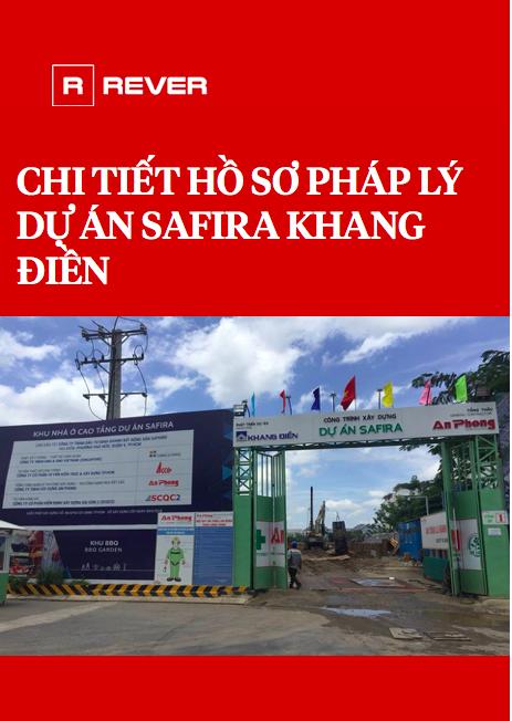 Chi tiết hồ sơ pháp lý dự án Safira Khang Điền