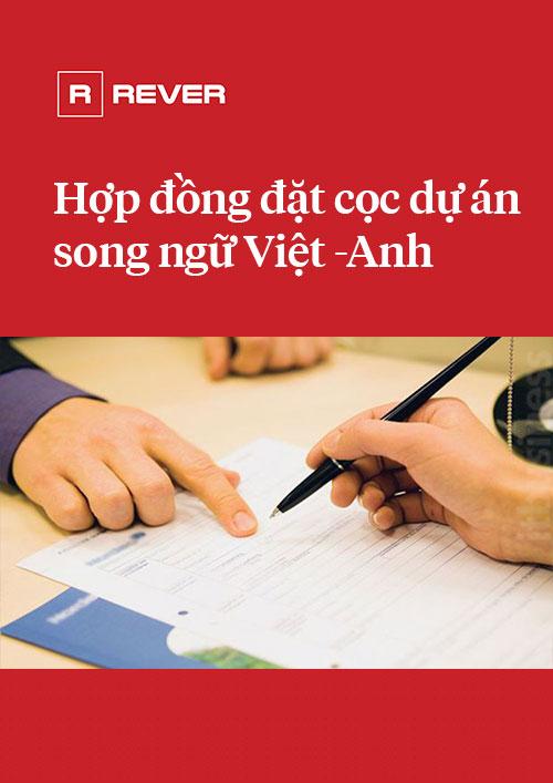 Mẫu Hợp đồng đặt cọc căn hộ dự án song ngữ Việt - Anh