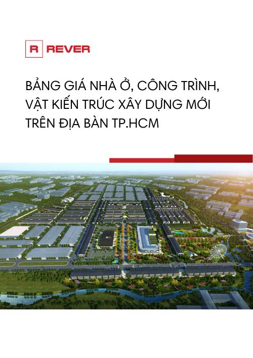 Bảng giá nhà ở, công trình, vật kiến trúc xây dựng mới tại TPHCM