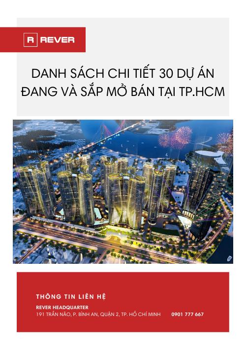 Danh sách 30 dự án đang và sắp mở bán tại TP.HCM
