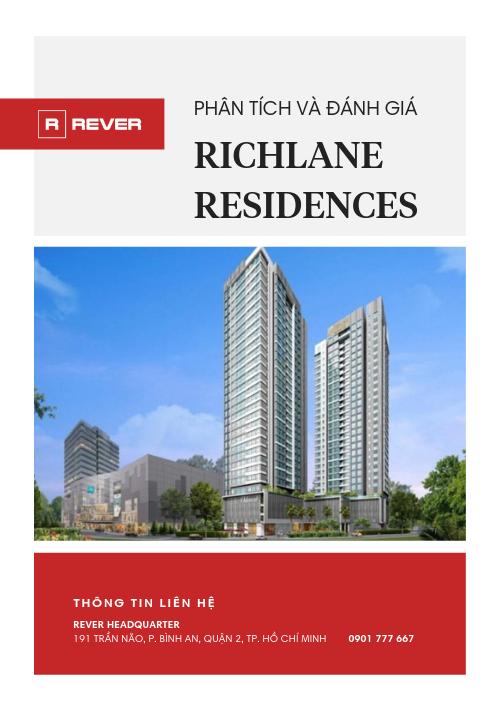 Phân tích và Đánh giá dự án Richlane Residences