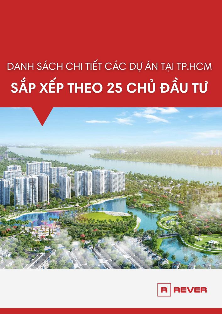 Danh mục dự án của 25 chủ đầu tư tại TP.HCM