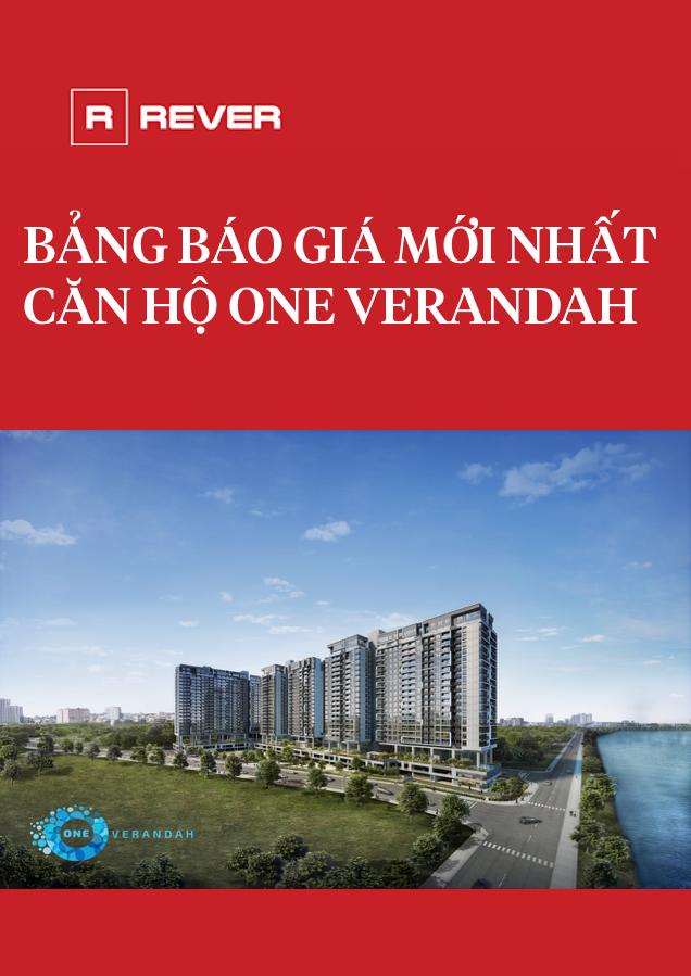 Bảng báo giá căn hộ One Verandah
