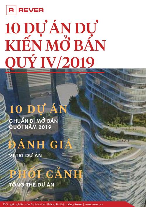 10 dự án BĐS tại TP.HCM dự kiến mở bán quý IV/2019