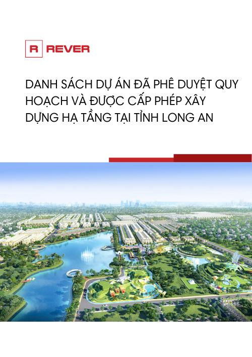 Danh sách các dự án đã phê duyệt quy hoạch và được phép xây hạ tầng tại Long An