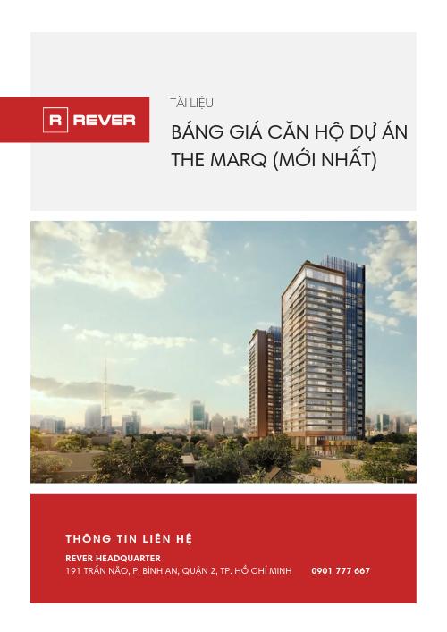 Bảng giá căn hộ The Marq (Mới nhất)