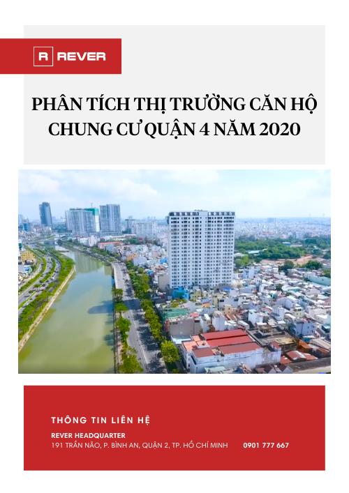 Phân tích chuyên sâu Thị trường Căn hộ Chung cư Quận 4 năm 2020