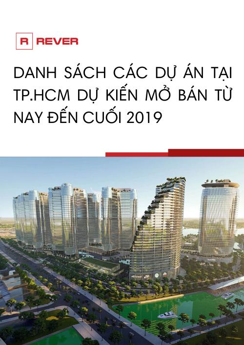 Danh sách 12 dự án tại TP.HCM dự kiến mở bán từ nay đến cuối 2019