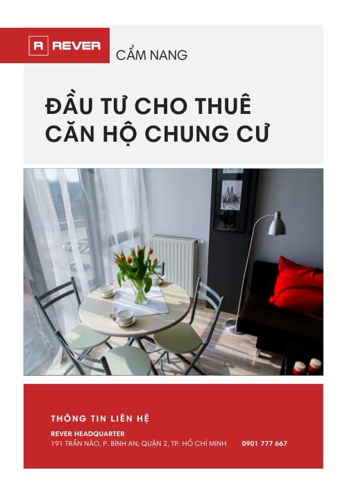Cẩm nang đầu tư cho thuê căn hộ chung cư