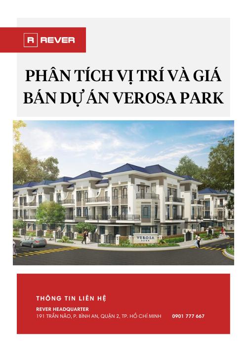 Phân tích Vị trí và Giá bán dự án Verosa Park Khang Điền