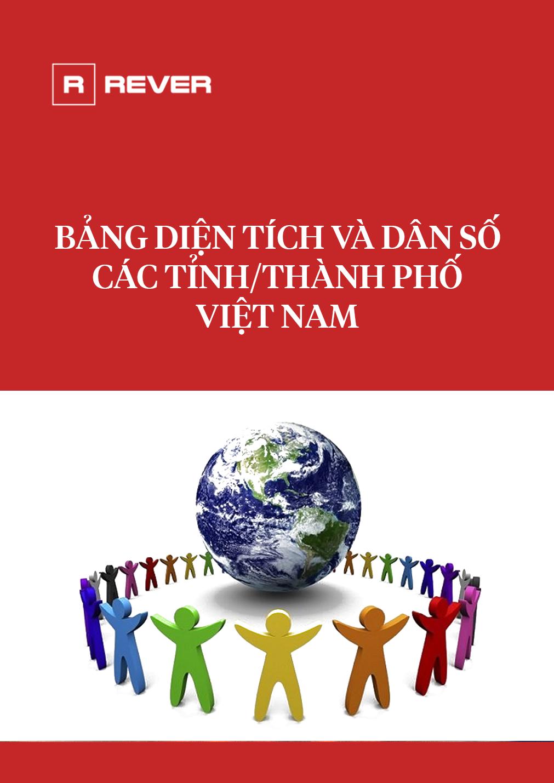 Bảng diện tích và dân số các tỉnh/thành phố Việt Nam