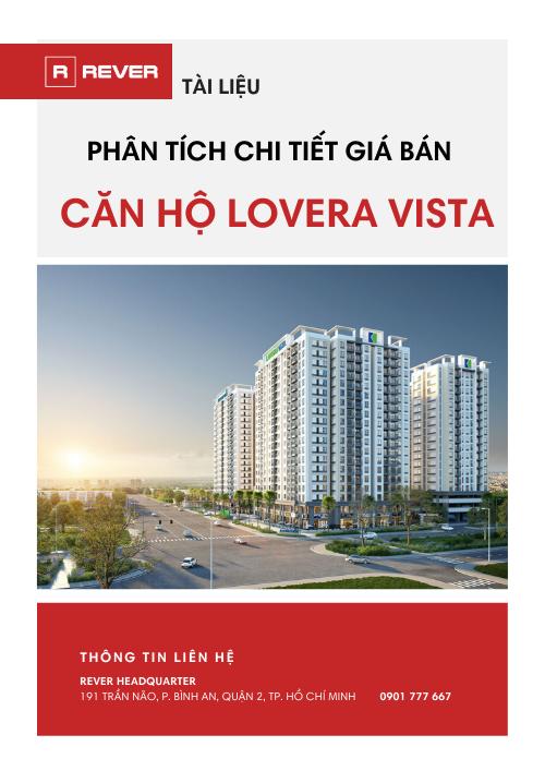 Phân tích chi tiết giá bán căn hộ Lovera Vista