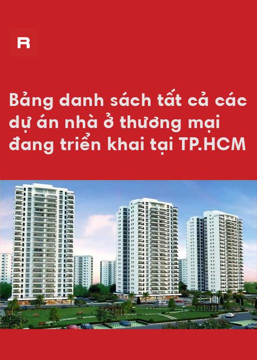 Danh sách 350 dự án nhà ở đang triển khai tại TP.HCM