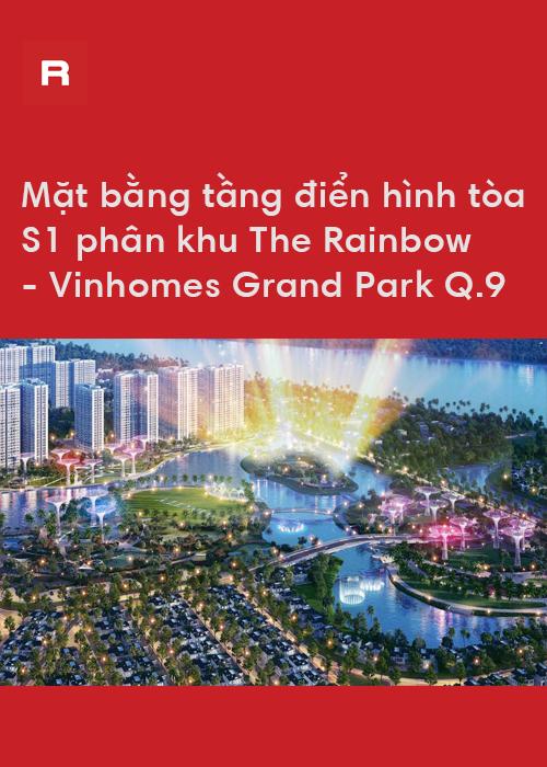 Mặt bằng tầng tòa S1 The Rainbow - Dự án Vinhomes Grand Park