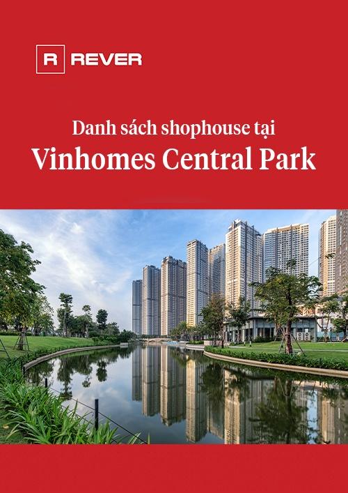 Danh sách các shophouse tại Vinhomes Central Park