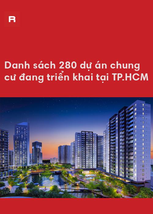 Danh sách 280 dự án chung cư tại TP.HCM
